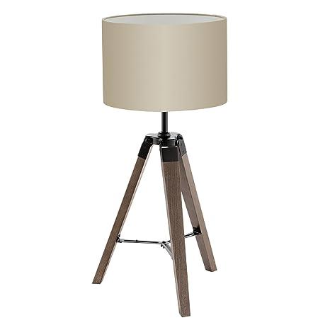 Bauhaus - Lámpara de mesa (Cilindro, E27, Interruptor de ...