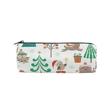 Ahomy Estuches para lápices, diseño de búho de Navidad, para ...
