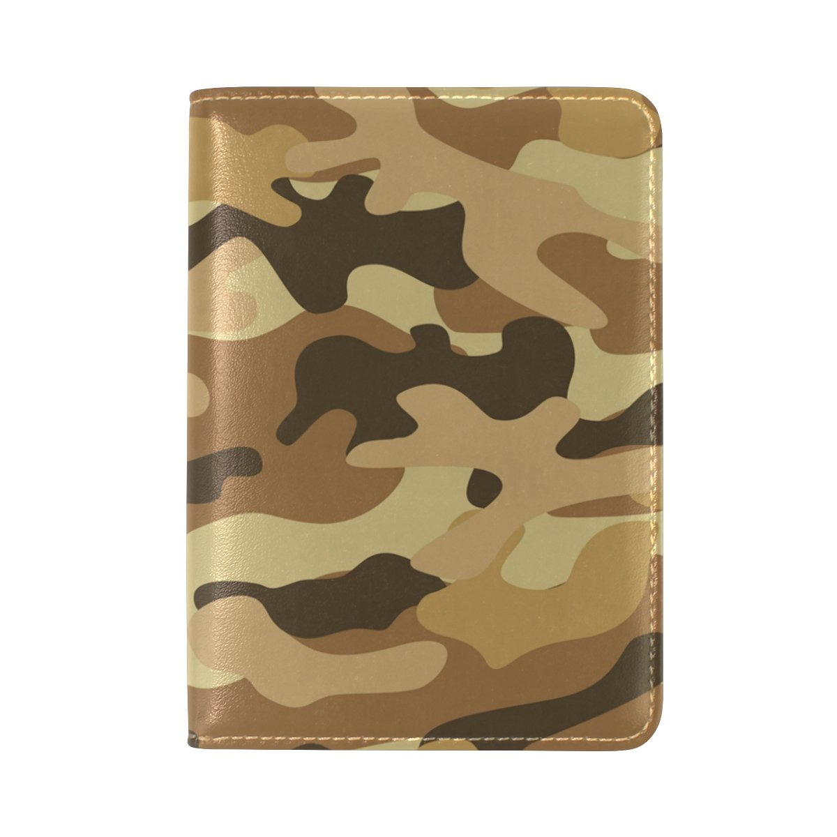 ALAZA Camouflage Camo Leather Passport Holder Cover Case Travel One Pocket
