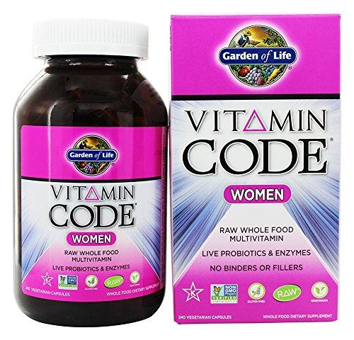 Garden of Life Vitamin Code Raw Women's Multivitamin, 240 Vegetarian Capsules (Pack of 3)