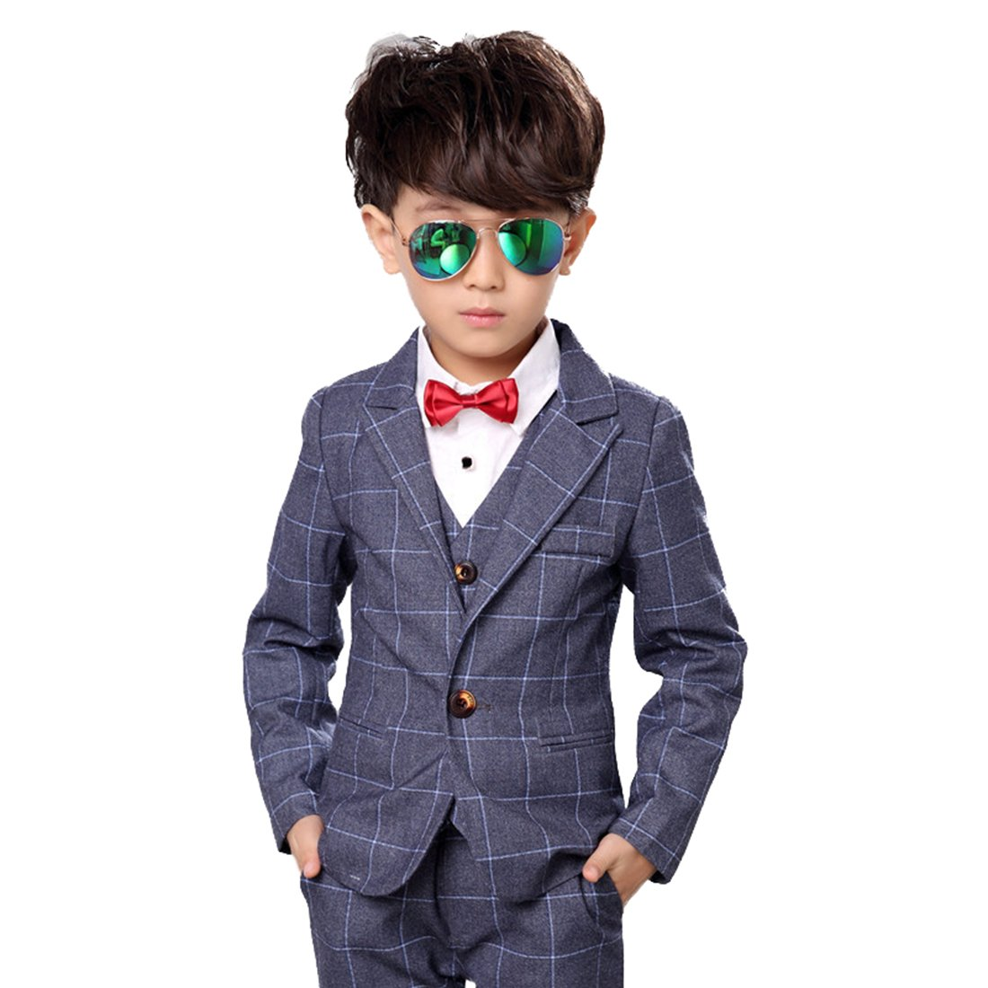 195fabb8c Amazon.com  Gele Boy 4 Pieces Formal Dress Suit