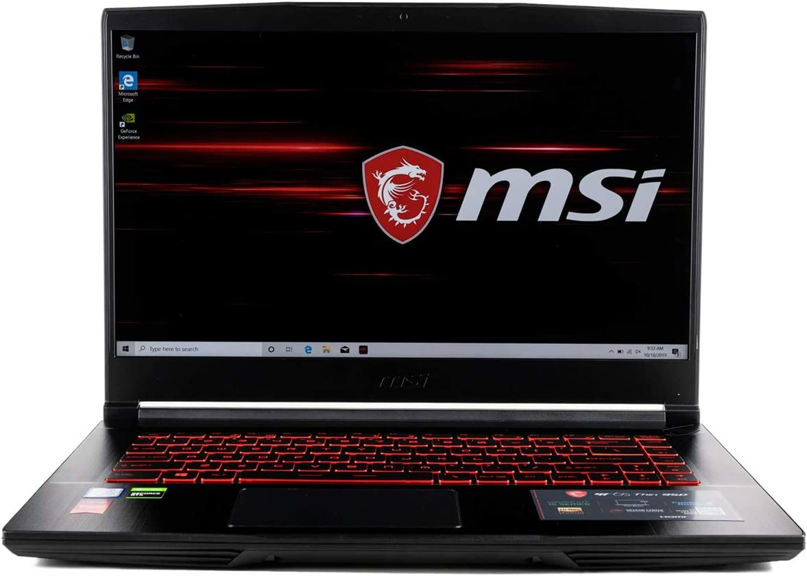 CUK MSI GF65 Thin Gaming Laptop (Intel i7-9750H, 64GB RAM, 1TB NVMe SSD, NVIDIA GeForce RTX 2060 6GB, 15.6