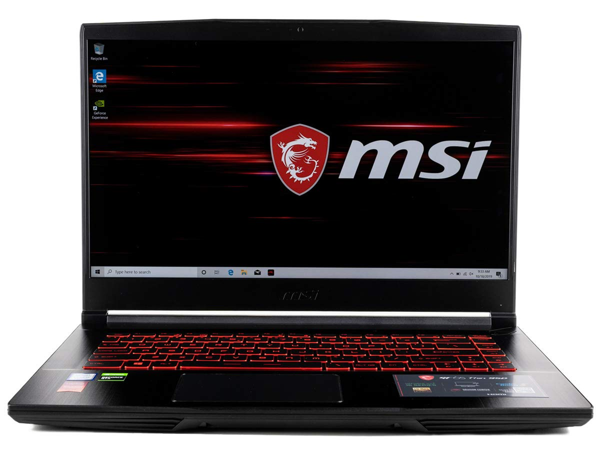 "CUK MSI GF65 Thin Gaming Laptop (Intel i7-9750H, 16GB RAM, 512GB NVMe SSD, NVIDIA GeForce RTX 2060 6GB, 15.6"" FHD 120Hz IPS-Level, Windows 10 Home) Gamer Notebook Computer"