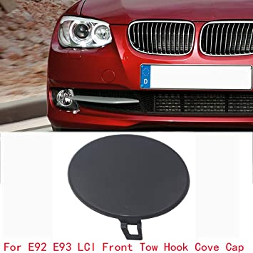 Rear Bumper Tow Hook Hole Cover Primered For BMW E90 LCI 3 Series Non M Sport