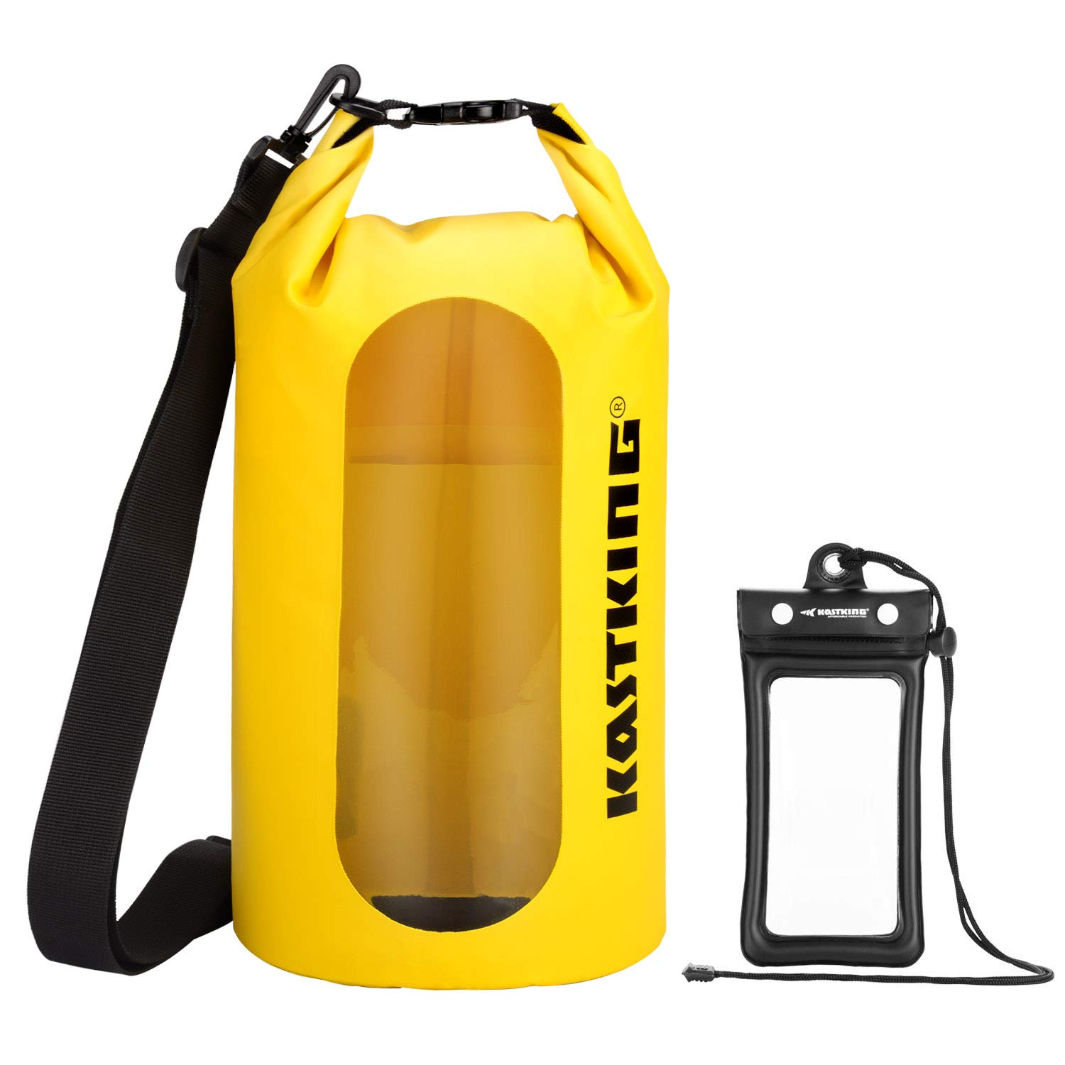 KastKing Floating Waterproof Dry Bag, Yellow Dry Bag Combo, 20L