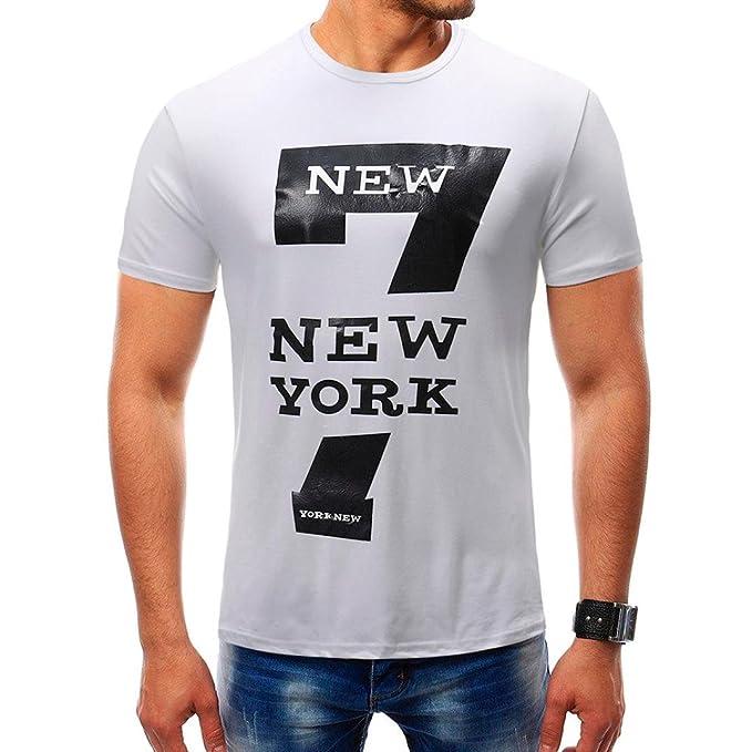 ALIKEEY Personalidad✓✓✓ De La Moda Verano Los Hombres Color Puro con Cremallera Manga ImpresióN Camiseta Blusa Gd632 Informal Corta Delgada York Larga, ...