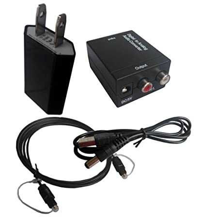 Easyday Digital Optical Coax S/PDIF Spdif Toslink to Analog RCA Coaxial Audio Converter Adapter