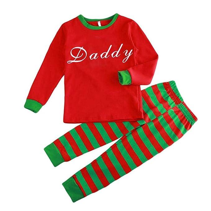 Hzjundasi Conjunto Pijamas Familia Navidad - Otoño Invierno Navidad Letras Impreso Ropa Familia Pijama Traje,