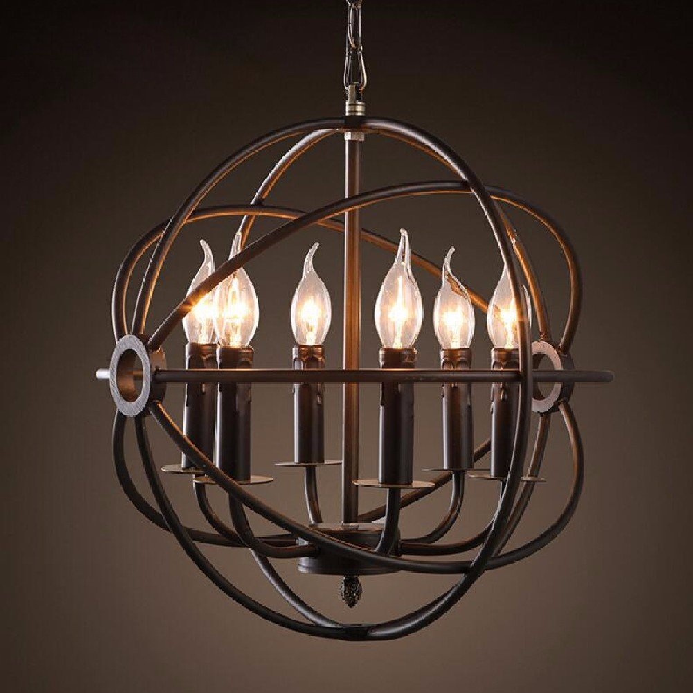 HQLCX Chandelier American Style Vintage Candles Chandeliers Personalized Restaurants Led Art Chandeliers 510X570Mm