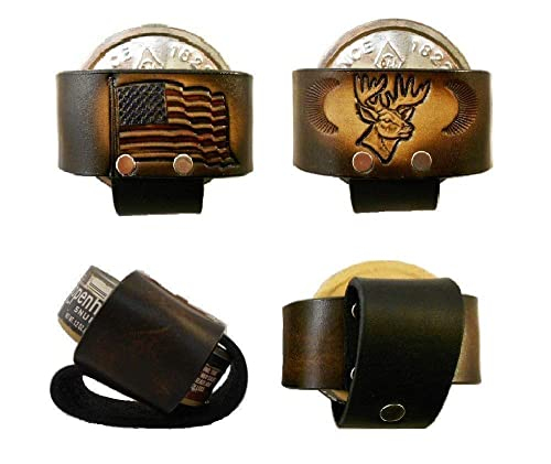 Amazon Com Leather Snuff Can Holder Holster Chewing Tobacco Case Handcrafted Many Tooled Designs Handmade
