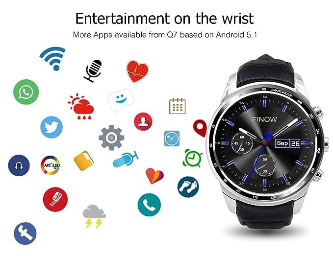 Finow Q7 Plus 3 G Smartwatch teléfono, 8 GB ROM 0.4 Mp Cámara ...
