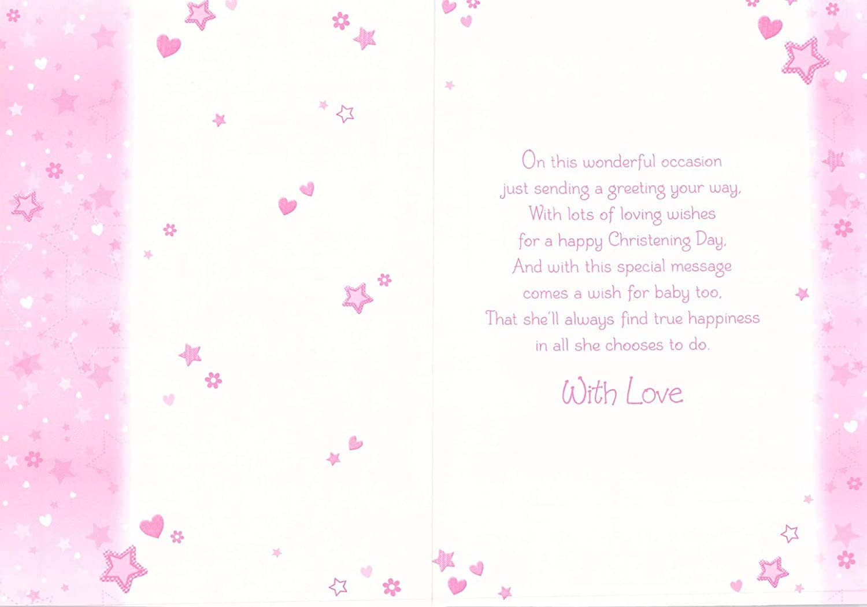 M1-13 Poppy Hill GREETING CARD GREAT GRANDDAUGHTER CHRISTENING