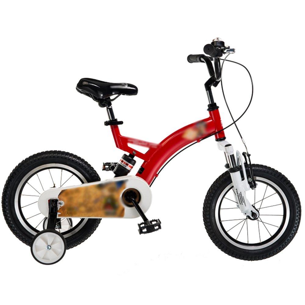 HAIZHEN マウンテンバイク 子供用自転車12インチ14インチ16インチ18インチレッドブルーイエローハンドルバーシートの高さ調節可能安全で信頼性の高い 新生児 B07C6WJZB7 18 inch|赤 赤 18 inch