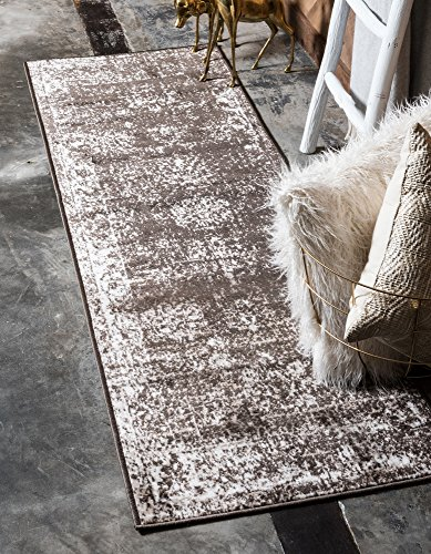 Unique Loom Sofia Collection Brown 2 x 7 Runner