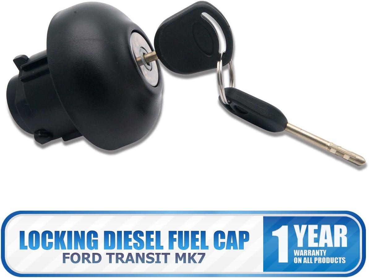 Tap/ón de combustible di/ésel de bloqueo con 2 llaves para Transit MK7 2006 en adelante Maso