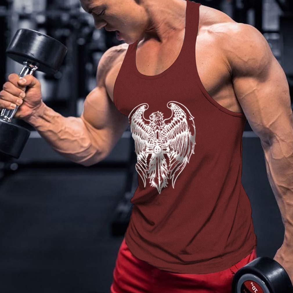 WEIMEITE Canotta Fitness Canotta Uomo Stringer Bodybuilding Muscle Shirt AllenaUomoto Canotta Palestra Canottiera
