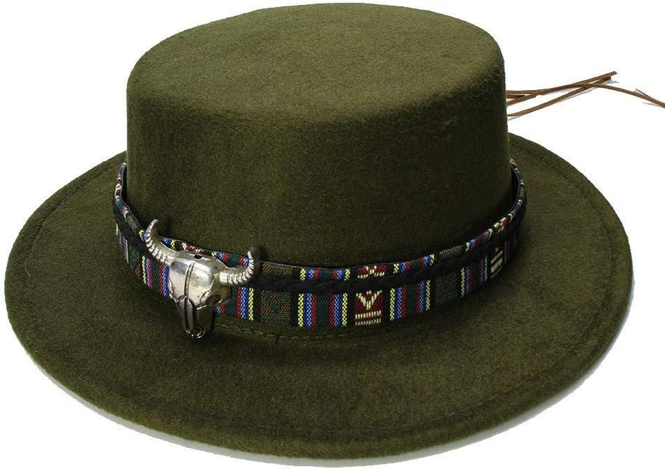 Sombrero de Copa Baja Moda Mujer Hombre Lana Vintage ala