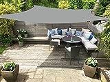 Do4U Waterproof Woven Oversized Triangle Garden Patio Shade Sun Sail UV Block Fabric with Steel D-Rings Triangle (16x16ft, Grey)