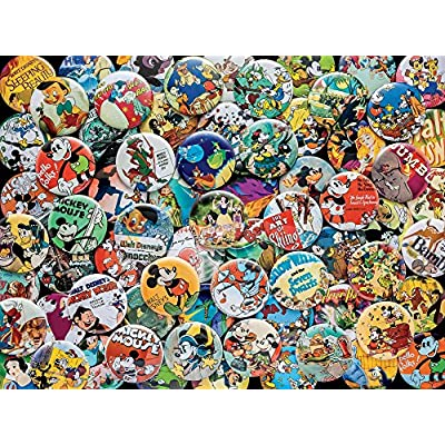 Disney Puzzle Ceaco Vintage Buttons 750pc New 2912 5