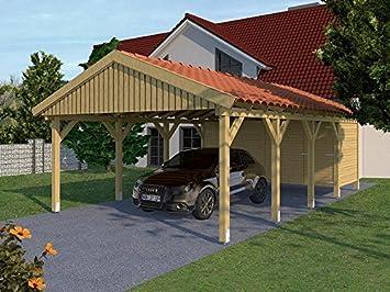 Carport (Satteldach) ZANDVOORT III 500cm x 800cm, mit ...