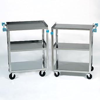 Amazon.com: Laboratorio de acero inoxidable carrito ...