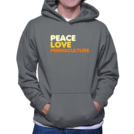 Peace Et Love CapucheVêtements Teeburon Permaculture 1clKJF