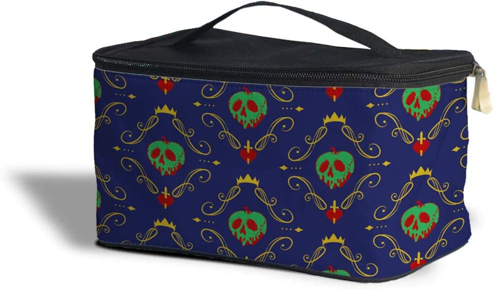 Rainbow Rules Poison Apple Evil Queen Disney Villain Inspired Cosmetics Storage Case - One Size Cosmetics Storage Case - Makeup Zipped Travel Bag