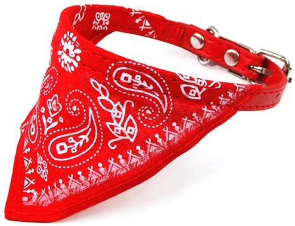 UmerBee Adjustable Pet Dog Cat Bandana Triangle Scarf Collar for Puppy Kitten Small Size Red