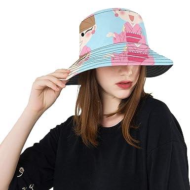 Paraguas Chica Elegante Precioso Verano Pesca Unisex Sombreros de ...