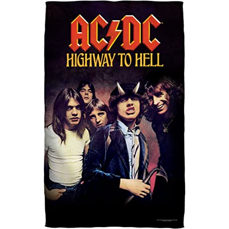 Ac Dc Highway To Hell Beach Towel In