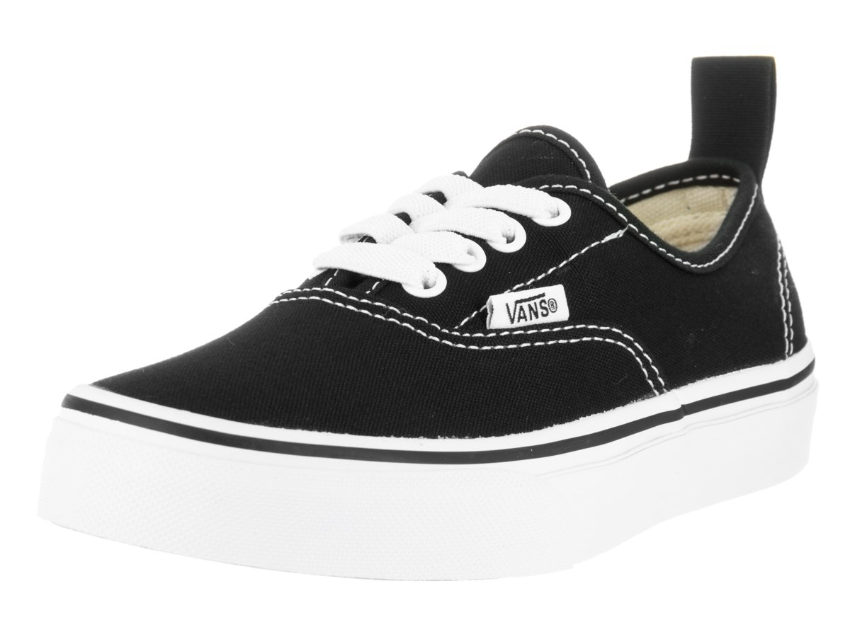 Vans  Authentic Elastic (Elastic Lace) Skate Shoe B01E5Z5JSS 11 Little Kid M|Black/True White