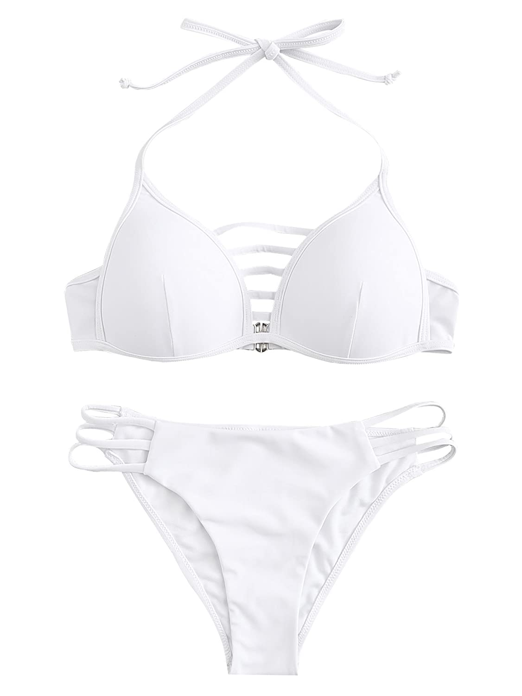 TALLA S. SOLY HUX Mujer Traje de Baño de Dos Piezas Bikini Push Up Bañadores Bañador Tankini Ropa de Baño 2019