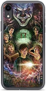 Mnertsa Compatible with iPhone 6/6s Pure Clear Case Cases Cover IT Pennywise Derry Losers Club Stephen King