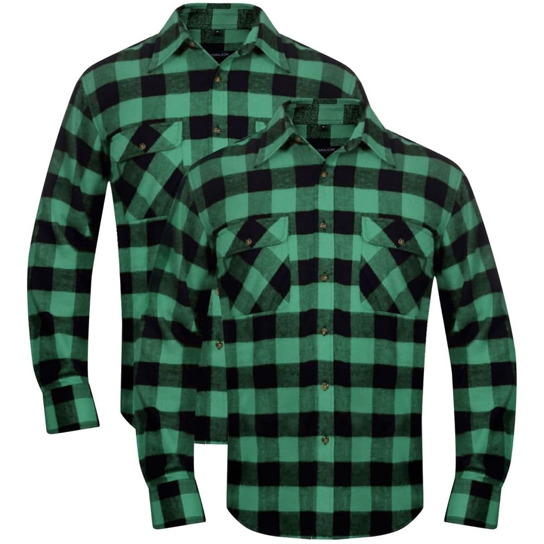 3931b20c0e 2 Camisas Trabajo Franela Tartán Cuadros para Hombre Diferentes Colores y  Tallas 30% de descuento
