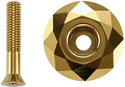 """1mm SET of 10 Bicycle MINI BMX ROAD MTB headset spacers 1/"""" threadless GOLD"""