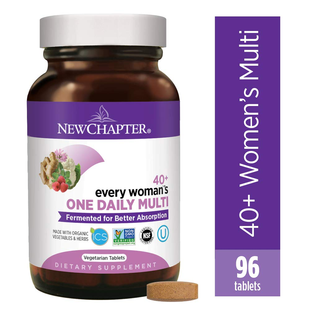 New Chapter Women's Multivitamin, Every Woman's One Daily 40+ Fermented with Probiotics + Vitamin D3 + B Vitamins + Organic Non-GMO Ingredients - 96 ct (Packaging May Vary) by New Chapter