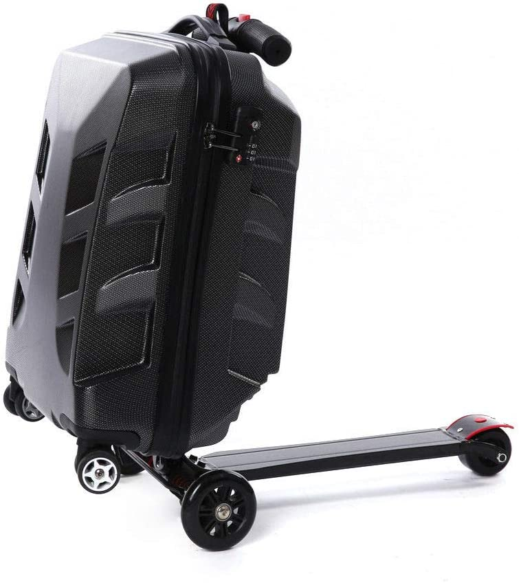 Scooter Luggage TBVECHI 21 Scooter Suitcase Rolling Luggage Travel Skateboard Wheels Creative Scooter Trolley Case MultiFunction Personalized Suitcase