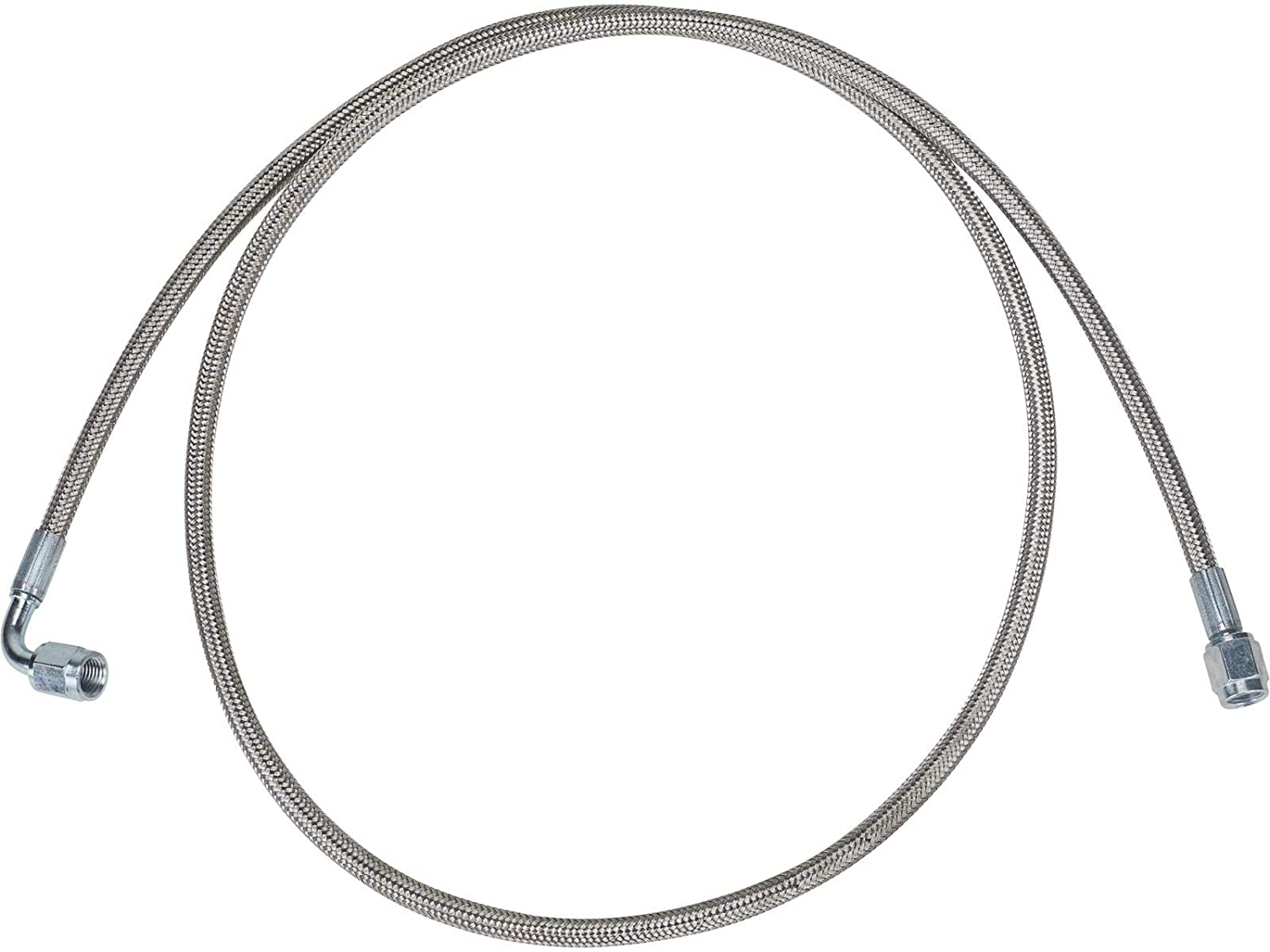 "Allstar Braided Stainless Steel Brake Line 24/"" 4 AN Straight to 4 AN 90 Degree"