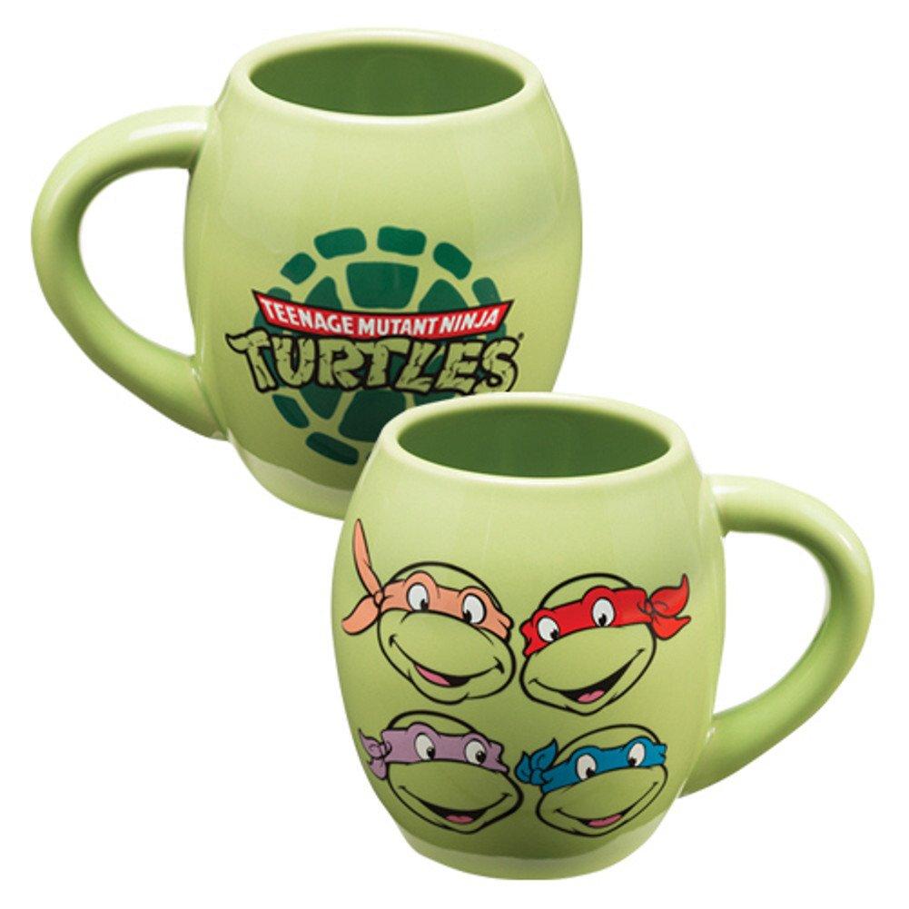 Taza de café ovalada con el logotipo de las Tortugas Ninja ...
