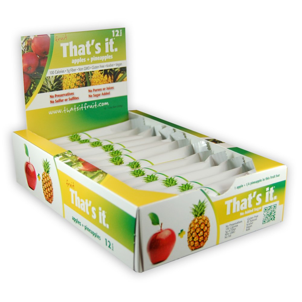That's It Apple Pineapple Snack Bar Gluten Free 1.2 oz, Pack of 144