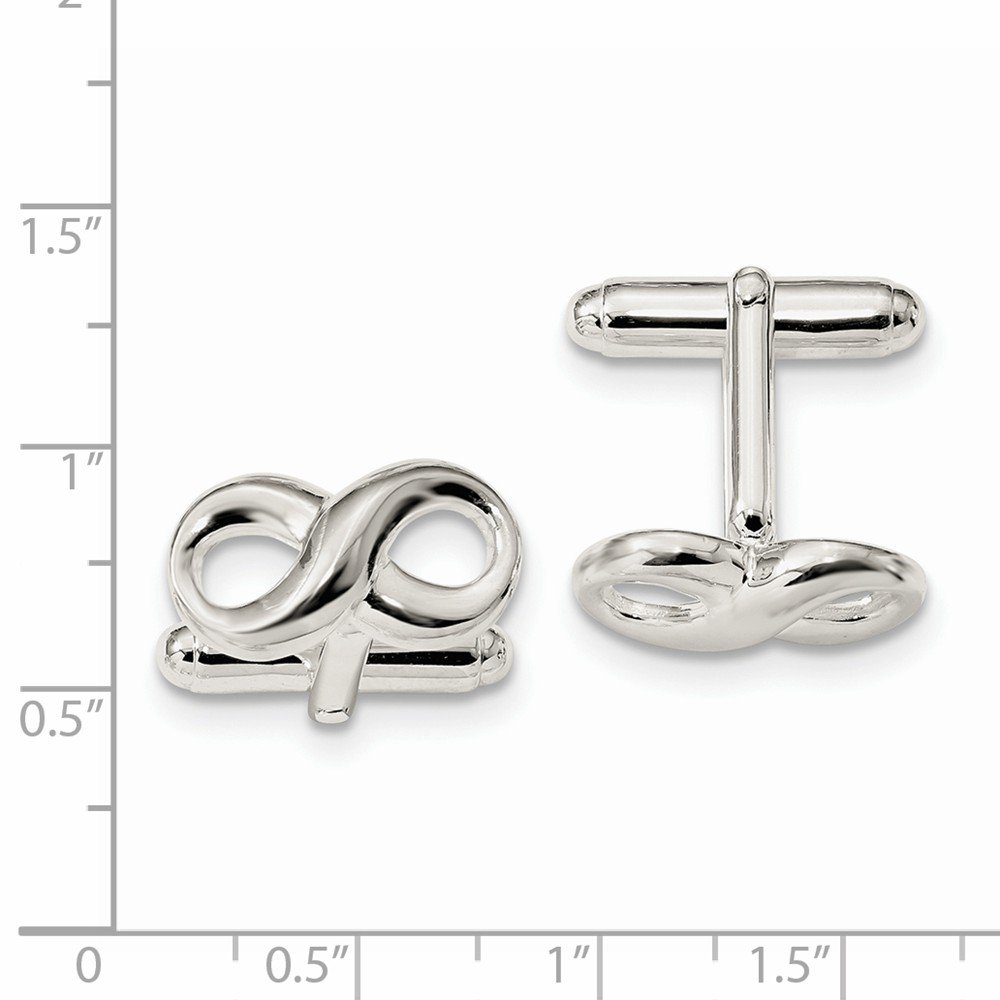 925 Sterling Silver Infinity Cuff Links