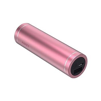 AUKEY Batería Externa de 5000 mAh, Cargadores portátiles compactos, Cargador de batería para iPhone X/8 Plus, Samsung S9/Note8, iPad, Auriculares ...