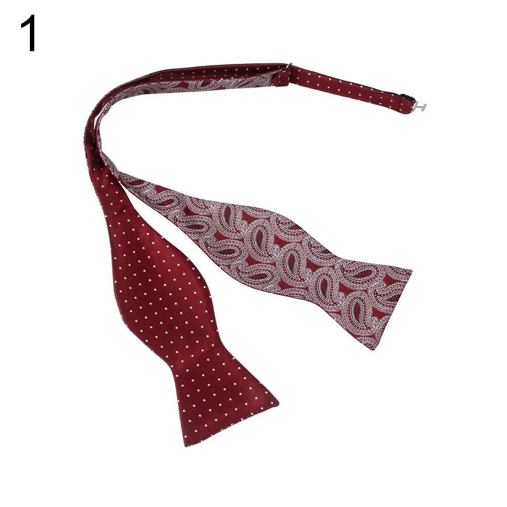 yanbirdfx Men Adjustable Self Bow Ties Necktie Neckwear Business Wedding Party Supplies - 12 by yanbirdfx (Image #3)