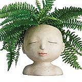 ART & ARTIFACT Head of a Lady Indoor/Outdoor Resin Planter