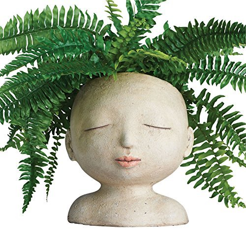ART & ARTIFACT Head of a Lady Indoor/Outdoor Resin Planter (Face Planter)