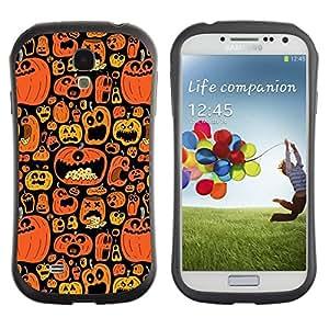 Suave TPU GEL Carcasa Funda Silicona Blando Estuche Caso de protección (para) Samsung Galaxy S4 I9500 / CECELL Phone case / / Orange Pumpkin Autumn Drawing /