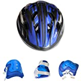 Kids Bike Helmet Knee-pad Elbow Wrist Protection Set for Bicycle, Skateboard, Scooter (for Kids 6~12 Years Old Birthday Gift)