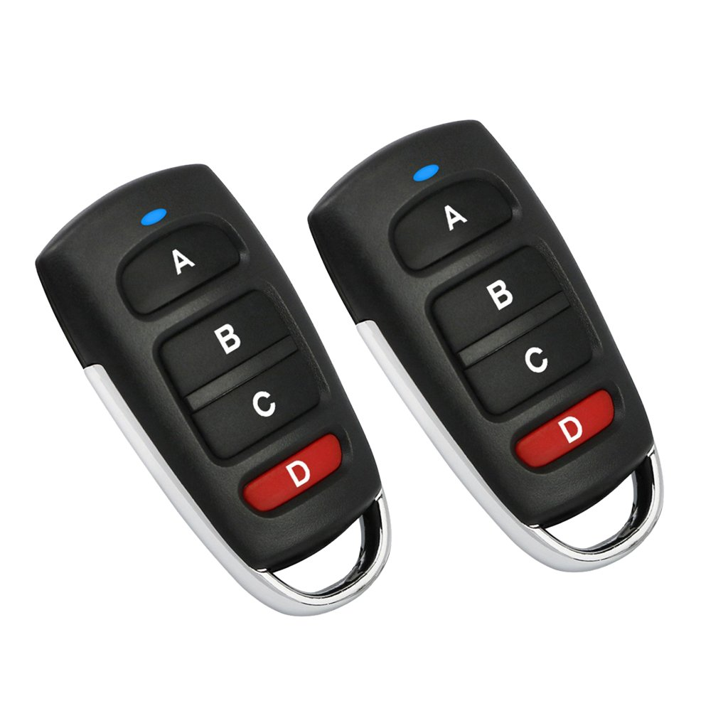 Baoblaze Pack of 2 Universal Cloning Remote Control Electric Key Fob for Garage Door Electronic Gate Vehicle Lock Car Alarm System - Backup Your Remote Controllers - A, 6x3x2cm
