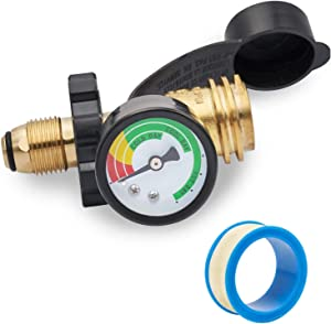 GASPRO Upgraded Propane Tank Gauge for 5-100lb Propane Tank with POL Connection, Stay Accurate at Different Temperatures