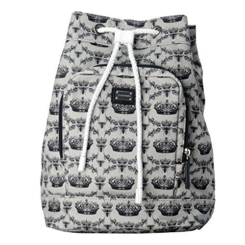 Dolce & Gabbana Multi-Color Crown Print Women's Drawstring Backpack Bag by Dolce & Gabbana